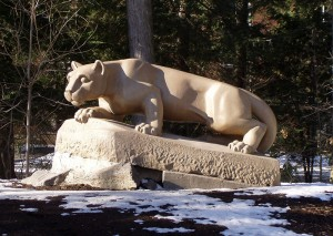 The Lion Shrine at Penn State University by Nathaniel C. Sheetz