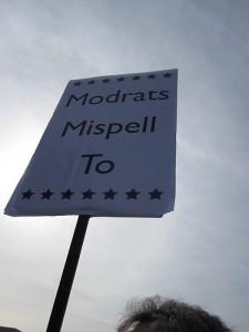 Moderates mispell too
