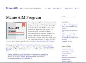 Screen shot Maine AIM