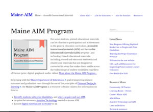 Screen shot Maine AIM