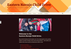 screen shot of Navajo Child Drive website