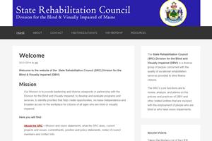 screen shot of Maine SRC website