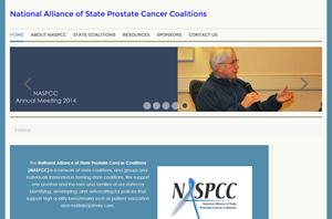 screen shot of NASPCC website