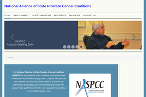 screen shot of NASPCC website