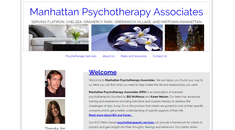 screen shot of Manhattan Psychotherapy websites